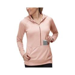 Women's Fila Phenom Half Zip Hoody Peach Poise/Cherry Tomato