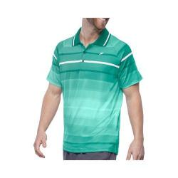 Men's Fila Platinum Stripe Polo Shirt Electric Green/White