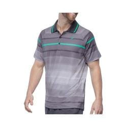 Men's Fila Platinum Stripe Polo Shirt Nine Iron/Electric Green