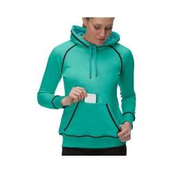 Women's Fila Pleasing Pullover Electric Green Heather/Emerald Teal/Black