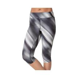 Women's Fila Pretty Printed Capri Black/White Diagonal Flash Print