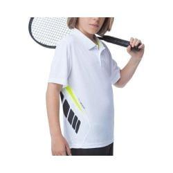 Boys' Fila Pro Polo Shirt White/Black/Safety Yellow