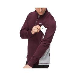 Men's Fila Sentinel Half Zip Shirt Winetasting/Highrise