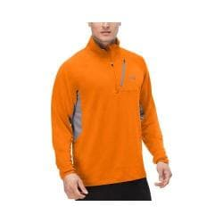 Men's Fila Skyline Half Zip Shirt Vibrant Orange/Castlerock