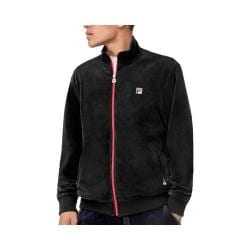 Men's Fila Slim Velour Jacket Black/Black/Black