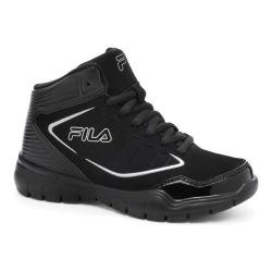 Boys' Fila Status 2 Casual Shoe Black/Black/Metallic Silver