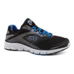 Men's Fila Stir Up Running Shoe Black/Dark Silver/Prince Blue