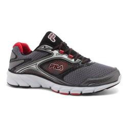 Men's Fila Stir Up Running Shoe Dark Silver/Black/Fila Red