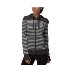 Women's Fila Striped Hyped Hoody Black/Varsity Heather