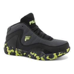 Boys' Fila Sweeper Basketball Shoe Castlerock/Black/Safety Yellow