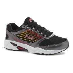 Boys' Fila Tempo 2 Running Shoe Black/Dark Silver/Fila Red