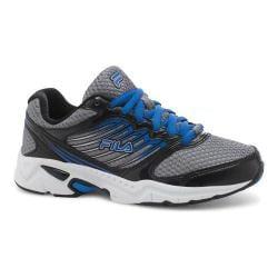 Boys' Fila Tempo 2 Running Shoe Dark Silver/Black/Prince Blue