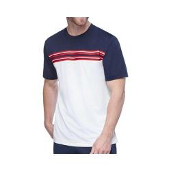 Men's Fila TM153LC4 Heritage Stripe Crew Neck White/Peacoat/Chinese Red