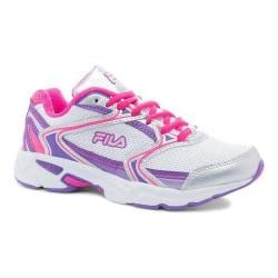 Women's Fila Xtent 2 Running Shoe White/Electric Purple/Pink Glo