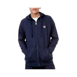 Men's Fila Zip Hoody Peacoat/White/Bark Guard