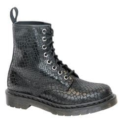 Women's Dr. Martens 1460 8-Eye Boot Black Hi Shine Snake