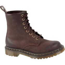 Women's Dr. Martens 1460 8-Eye Boot Dark Brown Burnished Wyoming