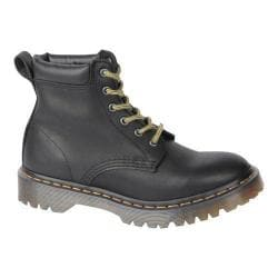 Dr. Martens Saxon 939 6-Eye Padded Collar Boot Black Aged Greasy