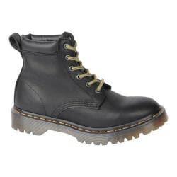 Dr. Martens Saxon 939 6-Eye Padded Collar Boot Black Aged Greasy