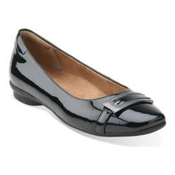 Women's Clarks Candra Glare Flat Black Patent Leather