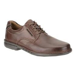 Men's Clarks Un.Corner Plain Brown Leather