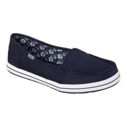 Women's Skechers BOBS Flexy Kick Start Slip On Navy