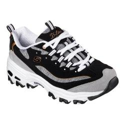 Women's Skechers D'Lites Sneaker Me Time/Black/White/Gray