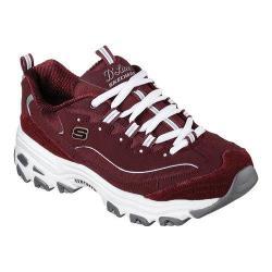 Women's Skechers D'Lites Sneaker Me Time/Burgundy/White