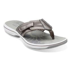 Women's Clarks Brinkley Athol Pewter Synthetic