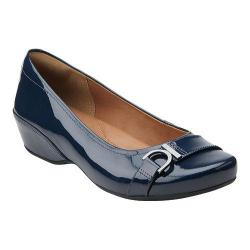 Women's Clarks Concert Band Navy Patent Leather