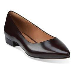 Women's Clarks Corabeth Abby Flat Burgundy Leather