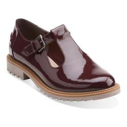 Women's Clarks Griffin Monty Burgundy Patent Leather