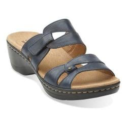 Women's Clarks Hayla Canyon Sandal Navy Leather