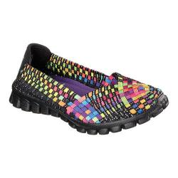 Women's Skechers EZ Flex 2 Woven Slip On Delphi/Black/Multi