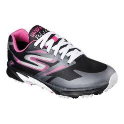 Women's Skechers GO GOLF Blade Waterproof Hybrid Black/Hot Pink