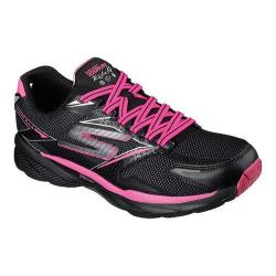 Women's Skechers GOrun Ride 4 Climate Lace Up Shoe Black/Hot Pink