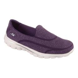 Women's Skechers GOwalk 2 Super Sock 2.0 Slip On Purple