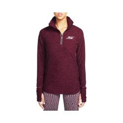 Women's Skechers Grace Quarter Zip Mock Neck Sweat Shirt Burgundy