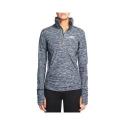 Women's Skechers Grace Quarter Zip Mock Neck Sweat Shirt Charcoal