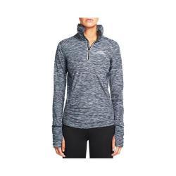Women's Skechers Grace Quarter Zip Mock Neck Sweat Shirt Charcoal