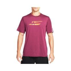 Men's Skechers High Velocity Banner Tee Shirt Burgundy