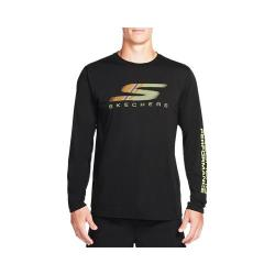 Men's Skechers High Velocity Fastest Long Sleeve Tee Shirt Black