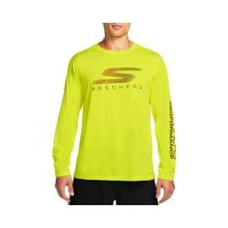 Men's Skechers High Velocity Fastest Long Sleeve Tee Shirt Neon/Yellow