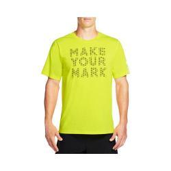 Men's Skechers High Velocity Make Your Mark Tee Shirt Neon/Yellow