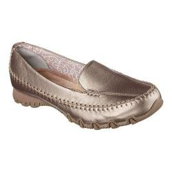 Women's Skechers Relaxed Fit Bikers Metal Loafer Bronze