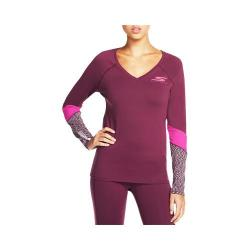 Women's Skechers Swan Long Sleeve Top Burgundy