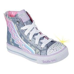 Girls' Skechers Twinkle Toes Shuffles Flutter Up High Top Denim