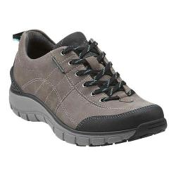 Women's Clarks Wave.Trek Walking Shoe Grey Leather