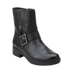 Women's Clarks Merrian Lynn Ankle Boot Black Leather