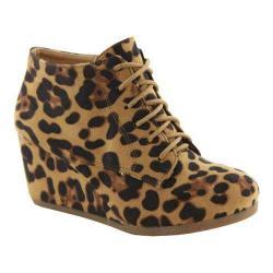 Women's L & C Brenda-11 Wedge Bootie Leopard
